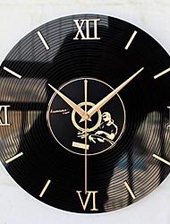 Retro Office/Business Holiday Music Wall Clock,Novelty Acrylic Metal Indoor Clock