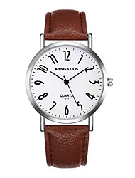 Women's Fashion Watch Chinese Quartz Leather Band Cool Casual Brown