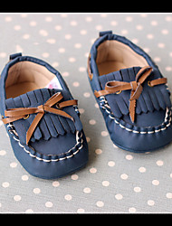 Kids' Baby Loafers & Slip-Ons First Walkers PU Spring Fall Casual First Walkers Flat Heel Dark Blue 1in-1 3/4in