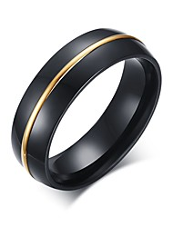 Jewelry Rings Anillos Jewelers 6mm Mens Band Ring Plated Channel With Arc Top And Polished Finish For Edges R-195
