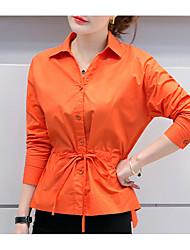 Damen Solide Sexy Ausgehen T-shirt,V-Ausschnitt Langarm Seide