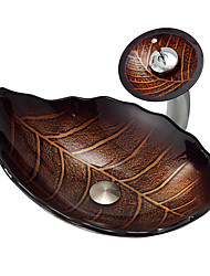 Antique Rectangulaire Matériau dissipateur est Verre TrempéLavabo de Salle de Bain Robinet de Salle de Bain Bague de Fixation de Salle de