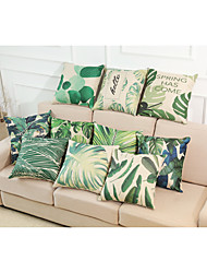 Set of 10 Novelty Tropical Plant Pattern Linen Pillowcase Sofa Home Decor Cushion Cover