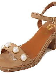 Damen-Sandalen-Lässig-Samt-Blockabsatz-Komfort-