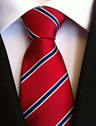 Homme Rétro Soirée Travail Polyester Cravate,Rayures Toutes les Saisons