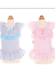 Chien Robe Vêtements pour Chien Mignon Mode Princesse Bleu Rose