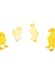 Realistic variety of wildlife toys 4PS.Squeezing with your hands makes a sound