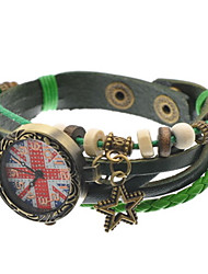 Женские Часы-браслет Кварцевый Кожа Группа Черный Зеленый