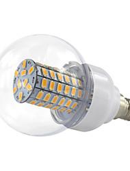 4.5W E14 Круглые LED лампы 69 SMD 5730 420 lm Тёплый белый Холодный белый V 1 шт.