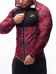 Men's Long Sleeve Running Sweatshirt Tops Comfortable Compression Spring Fall/Autumn Sports Wear Leisure Sports Running Nylon Tactel Slim