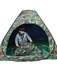 1 person Tent Double Fold Tent One Room Camping Tent 2000-3000 mm Fiberglass Oxford Waterproof Portable-Hiking Camping-Camouflage
