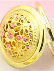 Pattern Is Random Hand-Paint Ceramic Makeup Mirror Travel Compact Folding Cosmetic Mirror Mini Pocket Magnifying Mirror for Make up