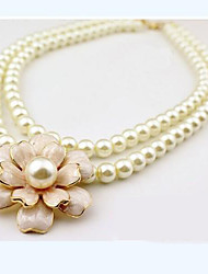 Women's Choker Necklaces Pearl Necklace Pearl Imitation Pearl Alloy Fashion Jewelry For Wedding Party Daily Casual