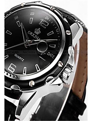Men's Fashion Watch Chinese Quartz Digital Silicone Band Black