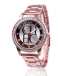 Women's Fashion Watch Chinese Quartz Alloy Band Casual Silver Gold Pink Rose Gold Silver Gold