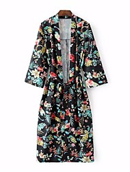 Women's Beach Holiday Boho Cute Spring Coat,Floral Cowl Long Rayon