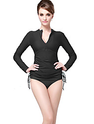 Women's 2mm Dive Skins Front Zipper smooth Sunscreen Solid Elastane Chinlon Diving Suit Long Sleeve Swimwear Diving Suits Tops-Swimming
