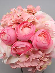 1шт / комплект 1 Филиал Шелк Розы Букеты на стол Искусственные Цветы