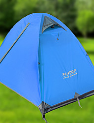 1 person Tent Double Fold Tent One Room Camping Tent Aluminium Oxford Waterproof Windproof Ultraviolet Resistant Foldable Breathability-
