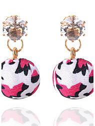 Boucles d'oreille goutte Boucles d'Oreille StrassCirculaire Bohême Style Punk euroaméricains Simple Style British Elegant Sexy Mode