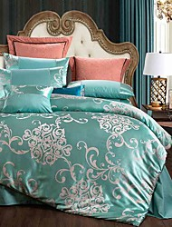 4-Piece Rome Style Jacquard Nobility High Quality silk Bedding  Bedding Duvet Cover Set