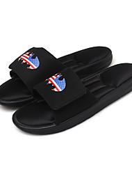 New Men Slippers  Summer Comfort Light Soles PU Outdoor Casual Flat Heel