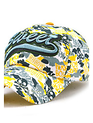 Unisex Women Men's Cotton Baseball/Peaked/Alpine Cap Sun Hat Casual Embroidery   Print Outdoors Sports Summer Brown/Wine/Yellow/Red/Blue