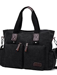 Men Canvas Casual Shoulder Bag khaki Coffee Black