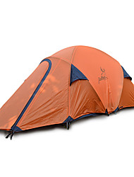 2 persons Tent Double Fold Tent One Room Camping Tent Fiberglass Oxford Waterproof Portable-Hiking Camping-Orange