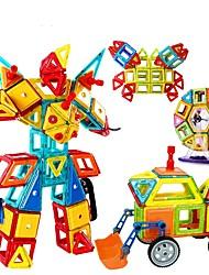 Blocos de Construir Brinquedo Educativo Blocos magnéticos para presente Blocos de Construir Quadrada Circular Triângulo 2 a 4 Anos 5 a 7