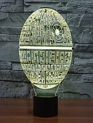 Death Star Colorful 3 D Light LED Acrylic Stereo And Light Touch Light