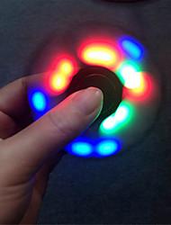 Ywxlight® fidget spinner führte licht fidget spinner finger abs edc hand spinner tri für kinder autismus adhd angst stress entlastung