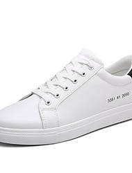 Da uomo-Sneakers-Casual-Comoda pattini delle coppiePU (Poliuretano)-Bianco Bianco/nero Bianco e verde