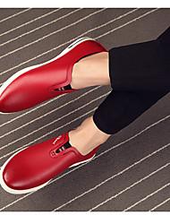 Mocassins masculins&Slip-ons confort synthétique décontracté rouge noir
