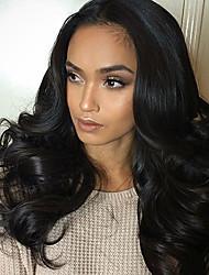 Курчавые полные парики человеческих волос шнурка с волосами шнурка человеческих волос передних человеческих волос естественные волосы