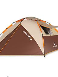 3-4 Personen Zelt Doppel Automatisches Zelt Einzimmer Camping Zelt 2000-3000 mm Glasfaser OxfordFeuchtigkeitsundurchlässig Wasserdicht