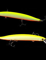 "2 pcs Others Fishing Lures Pike Pink Red yellow shad glass green g/Ounce,140 mm/5-9/16"" inch,Plastic Bait Casting"