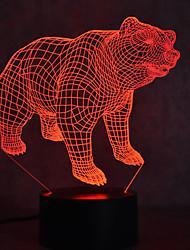 Weihnachten Bär Schildkröten berühren Dimmen 3d geführt Nachtlicht 7colorful Dekoration Atmosphäre Lampe Neuheit Beleuchtung