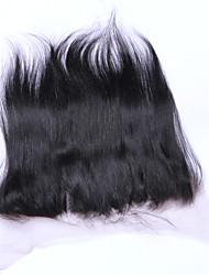 18inch braizlian fermeture frontale en dentelle droite meilleures fermetures de cheveux humains vierges fermeture sans brazilian / milieu