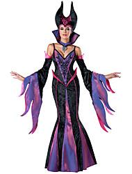 Costumes de Cosplay Sorcier/Sorcière Fête / Célébration Déguisement d'Halloween Autres Robe Gants Collier Chapeau Halloween Féminin