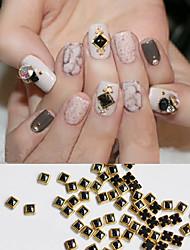 Decorações pretas da arte do prego da jóia da bordura do metal 20pcs