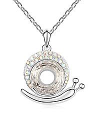 Women's Pendant Necklaces Jewelry Jewelry Gem Alloy Unique Design Fashion Light Blue Rainbow White Gold Jewelry ForParty Gift Daily