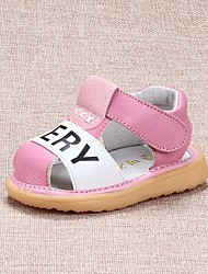 Girls' Baby Sandals Slingback Other Animal Skin Summer Casual Slingback Flat Heel Black Peach Blushing Pink 1in-1 3/4in