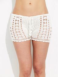 Une-pièce / Shorts de Bain Aux femmes Couleur Pleine / Maille Une-Pièce Licou Coton / Polyester