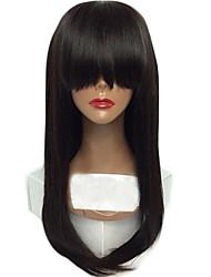 Perucas virgens brasileiras vendedoras quentes do laço do cabelo perucas retas retas do cabelo humano perucas retas do cabelo com bang