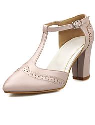 Feminino-Saltos-Conforto Inovador Sapatos clube Sapatos formais-Salto Grosso--Materiais Customizados Courino-Escritório & Trabalho Social