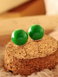 Fashionable Adorable Candy Color Ball Ball Stud Earrings
