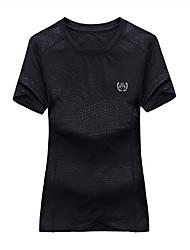 Herrn T-shirt Klettern Wasserdicht Atmungsaktiv Sommer Weiß Schwarz Rot orange
