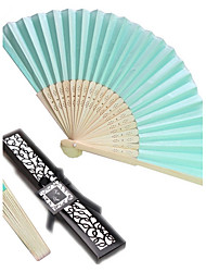 Bachelorette Mint Blue Silk Hand Fan in Giftbox Ladies Night Out Essentials Beter Gifts®Recipient Gifts