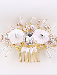 Crystal Alloy Imitation Pearl Headpiece-Wedding Special Occasion Hair Combs 1 Piece